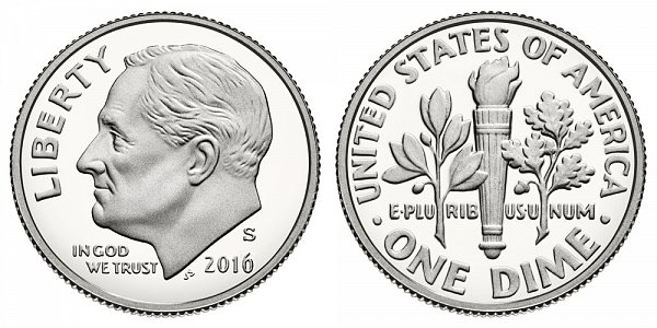 2016 S Silver Proof Roosevelt Dime