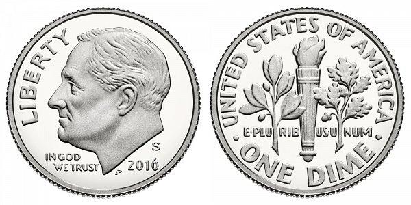 2016 S Proof Roosevelt Dime