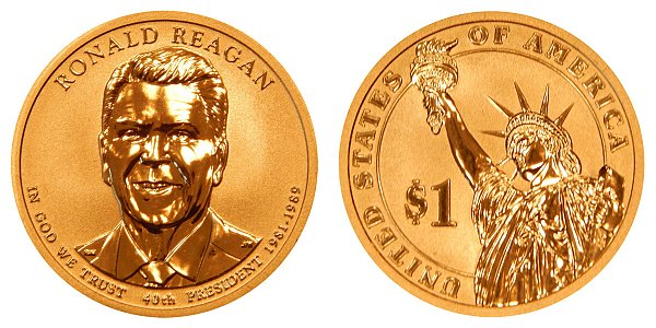2016 S Reverse Proof Ronald Reagan Presidential Dollar