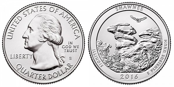 2016 S Uncirculated Shawnee National Forest Quarter - Illinois