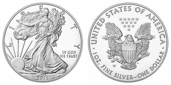 2016 W Bullion American Silver Eagle Proof - 30th Anniversary