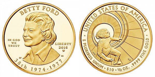 2016 W Proof Betty Ford First Spouse Gold Coin