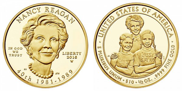 2016 W Proof Nancy Reagan First Spouse Gold Coin