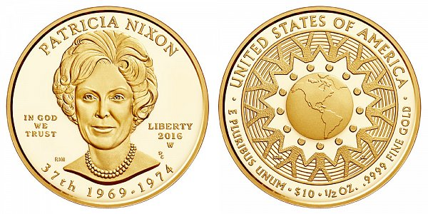 2016 W Proof Patricia Nixon First Spouse Gold Coin
