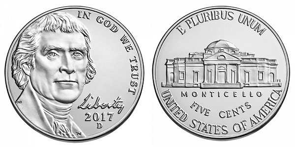 2017 D Jefferson Nickel
