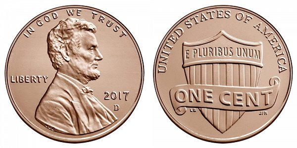2017 D Lincoln Shield Cent Penny