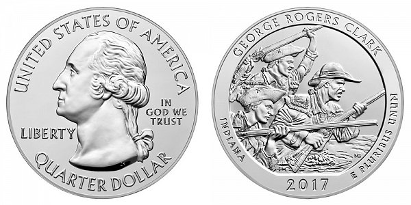 2017 George Rogers Clark 5 Ounce Bullion Coin - 5 oz Silver