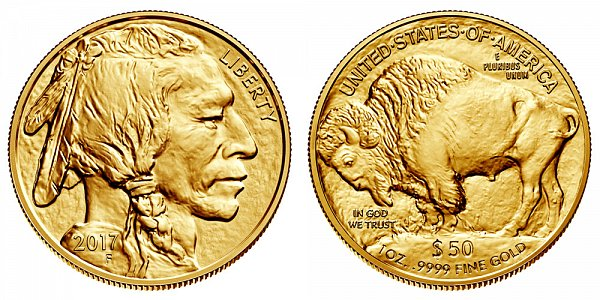 2017 One Ounce Gold American Buffalo - 1 oz Gold $50