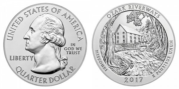 2017 Ozark Riverways 5 Ounce Bullion Coin - 5 oz Silver