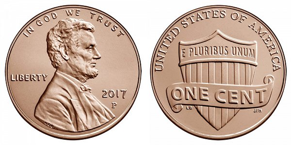 2017 P Lincoln Shield Cent Penny