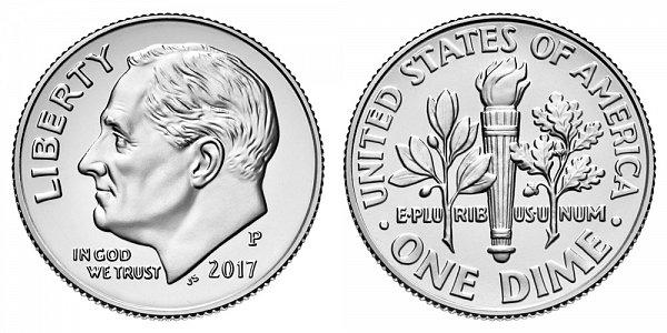 2017 P Roosevelt Dime