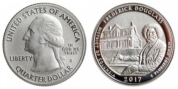 2017 S Enhanced Uncirculated Frederick Douglass National Historic Site Quarter - District of Columbia