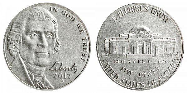 2017 S Enhanced Uncirculated Jefferson Nickel