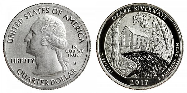 2017 S Enhanced Uncirculated Ozark National Scenic Riverways Quarter - Missouri