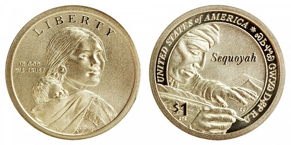2017 S Enhanced Uncirculated Sacagawea Native American Dollar - Sequoyah