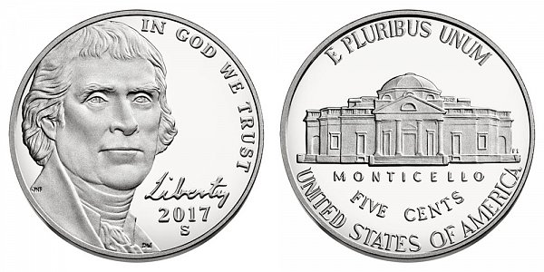 2017 S Proof Jefferson Nickel