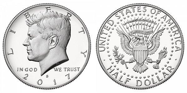2017 S Silver Proof Kennedy Half Dollar