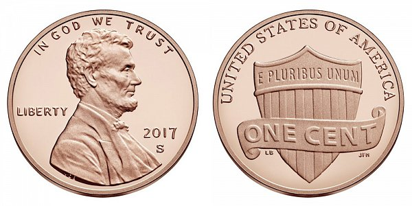2017 S Lincoln Shield Cent Penny