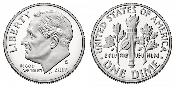 2017 S Proof Roosevelt Dime