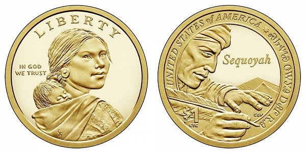 2017 S Proof Sacagawea Native American Dollar - Sequoyah