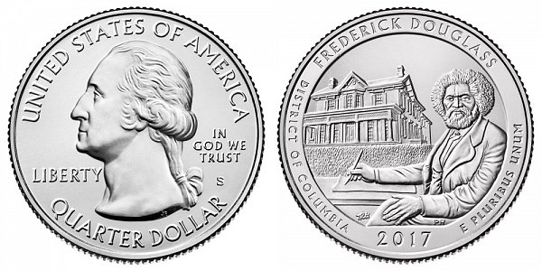 2017 S Uncirculated Frederick Douglass National Historic Site Quarter - District of Columbia