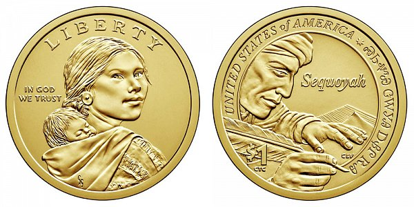 2017 D Sacagawea Native American Dollar - Sequoyah