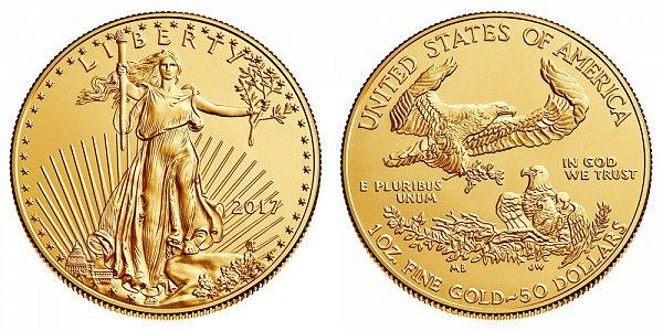 2017 Bullion One Ounce American Gold Eagle - 1 oz Gold $50