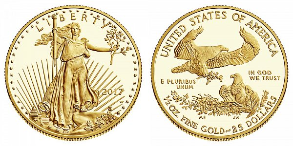 2017 Proof Half Ounce American Gold Eagle - 1/2 oz Gold $25