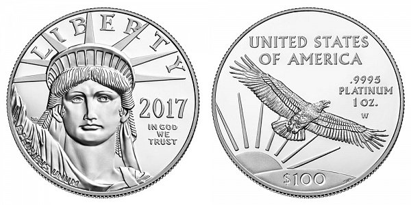 2017 W Proof One Ounce American Platinum Eagle - 1 oz Platinum $100