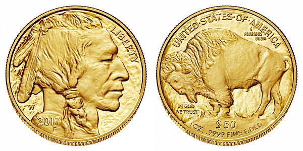 2017 W Proof One Ounce Gold American Buffalo - 1 oz Gold $50