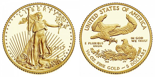 2017 Proof Tenth Ounce American Gold Eagle - 1/10 oz Gold $5