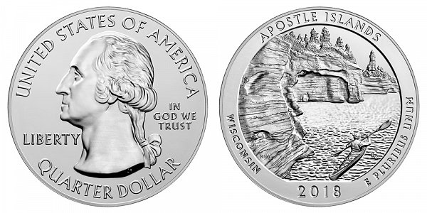 2018 Apostle Islands 5 Ounce Bullion Coin - 5 oz Silver