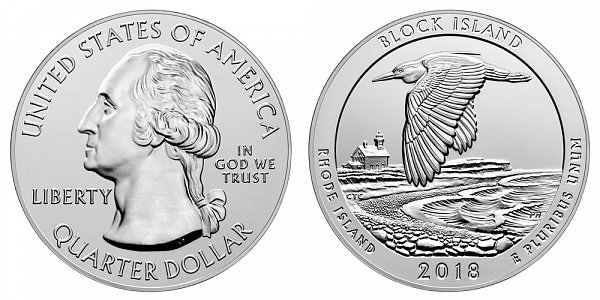 2018 Block Island 5 Ounce Bullion Coin - 5 oz Silver