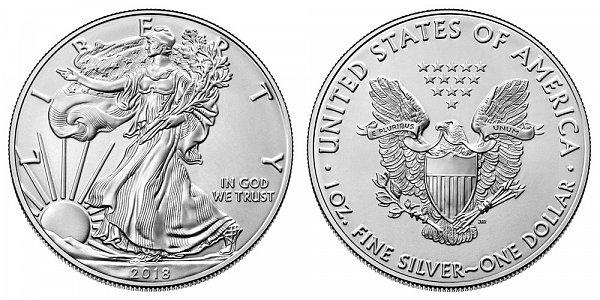 2018 Bullion American Silver Eagle