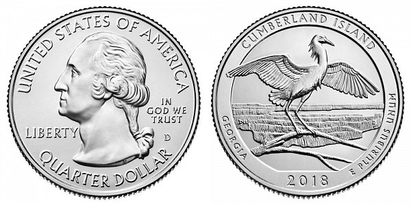 2018 D Cumberland National Seashore Quarter - Georgia