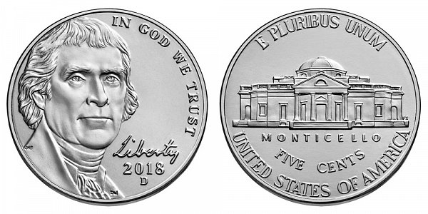2018 D Jefferson Nickel