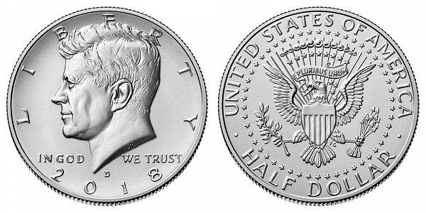 2018 D Kennedy Half Dollar