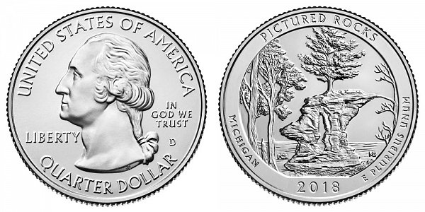2018 D Pictured Rocks National Lakeshore Quarter - Michigan