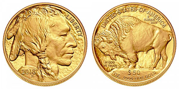 2018 One Ounce Gold American Buffalo - 1 oz Gold $50