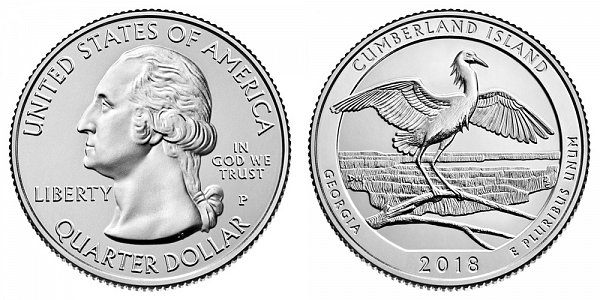 2018 Cumberland Island National Seashore Quarter