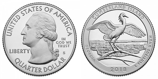 2018 S Proof Cumberland National Seashore Quarter - Georgia