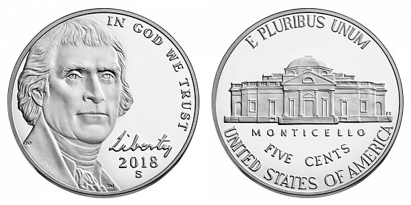 2018 S Proof Jefferson Nickel