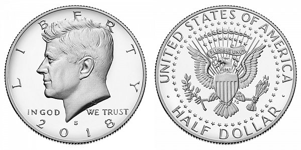2018 S Proof Kennedy Half Dollar