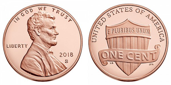 2018 S Lincoln Shield Cent Penny