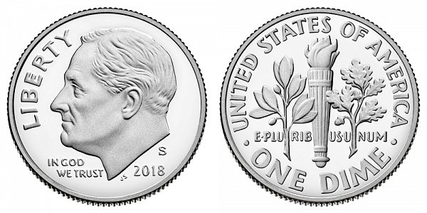 2018 S Silver Proof Roosevelt Dime