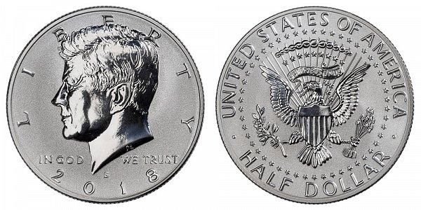 2018 S Silver Reverse Proof Kennedy Half Dollar