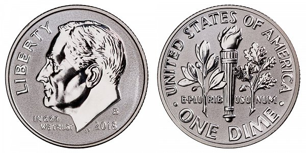 2018 S Reverse Proof Silver Roosevelt Dime