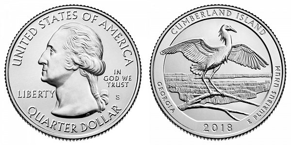 2018 S Uncirculated Cumberland National Seashore Quarter - Georgia