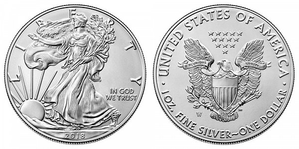 2018 W Burnished Uncirculated American Silver Eagle