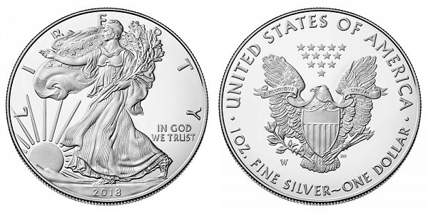 2018 W Proof American Silver Eagle